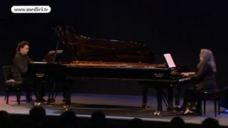 Martha Argerich and Evgeny Kissin - Lutoslawski - Paganini variations for two pianos
