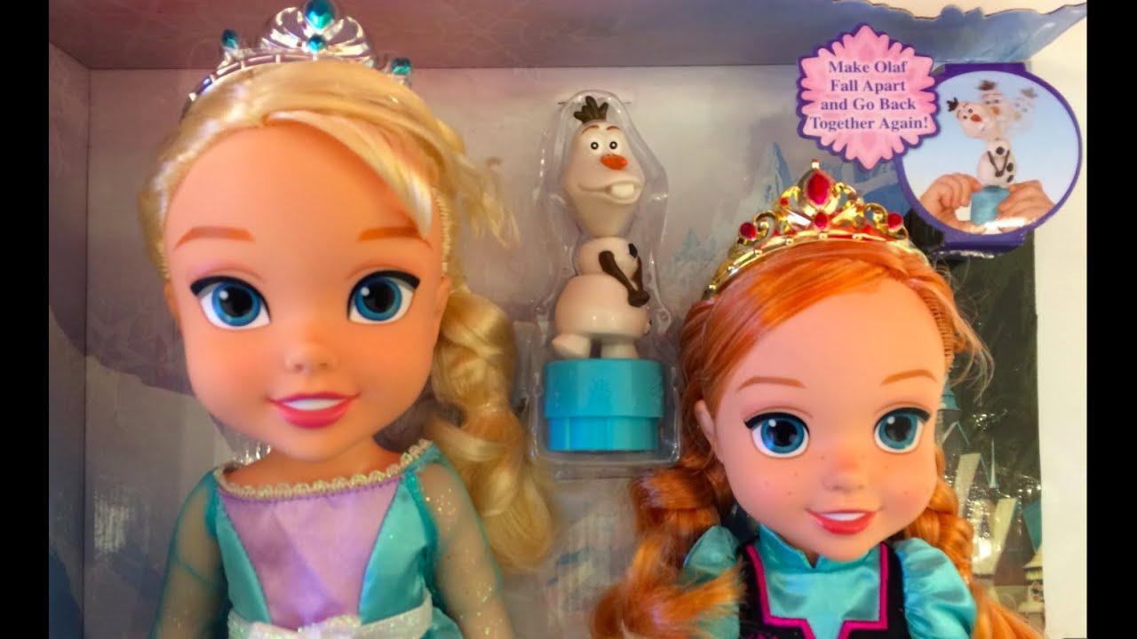 Disney Frozen Elsa Amp Anna Toddler Princess Dolls With Fall