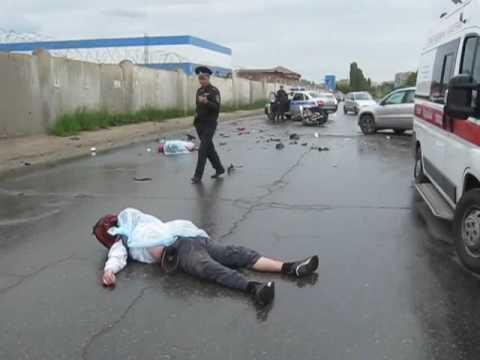 Жуткаяя аварии в Липецке. Погибли мотоциклист и его пассажир