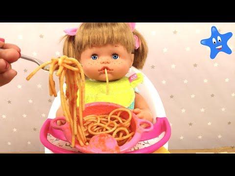Cocino espagueti y Ani se los come Nenuco Ksi Bebés