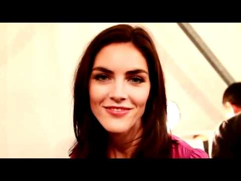 Hilary Rhoda at Derek Lam Backstage by Daily From Row