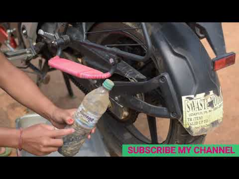 How to clean & lube motorcycle chain in a best way | motorcycle chain lube