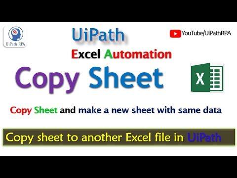 UiPath-Copy Excel Sheet Excel Automation UiPath RPA Tutorial