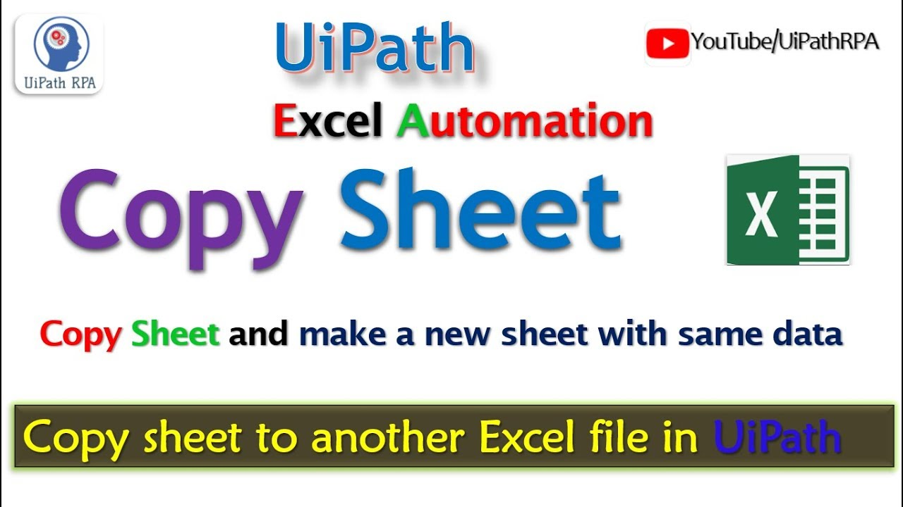 UiPath-Copy Excel Sheet|Excel Automation|UiPath RPA Tutorial