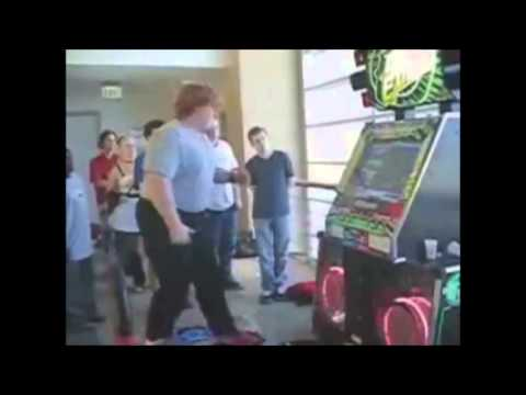 Fat people falling over. - YouTube