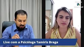 """Live: """"Prevenindo o suicídio"""" com a Psicóloga Tamiris Braga"""