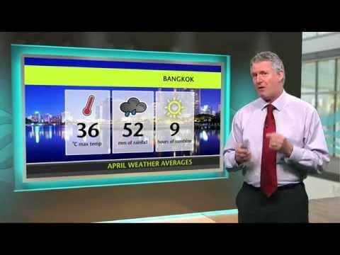 April Holiday Weather  - Bangkok, New York, Tenerife, Amsterdam, Tunis