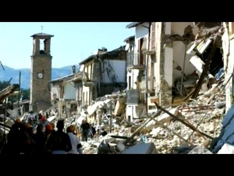 Stunning Before And After Images Of Italian Earthquake