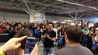 Jason David Frank - Cleveland Comic Con - Crowd sings the Mighty Morphin' Power Rangers theme song
