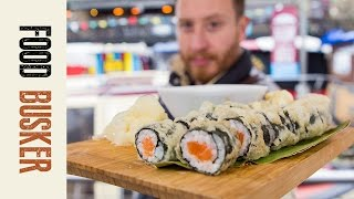 Japanese Melting Salmon Sushi | Food Busker