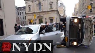 Watch police flip a car on Park Ave.