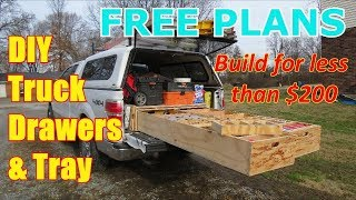FREEE PLANS DIY Truck Drawer Box and Slide out Tray