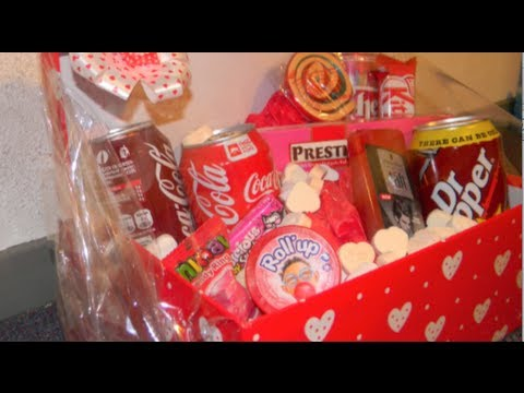diy valentines day last minute gift basketpackage - Valentines Day Gift Basket Ideas