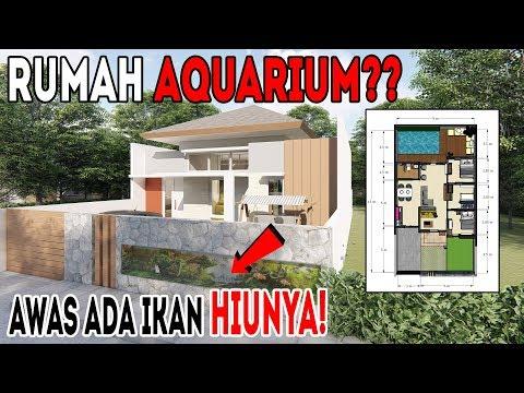 Begini jadinya kalau bangun rumah dari desain rumah AQUARIUM!