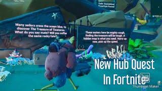 New Fortnite Underwater Treasure Creative Hub Quest Tutorial / Walkthrough !