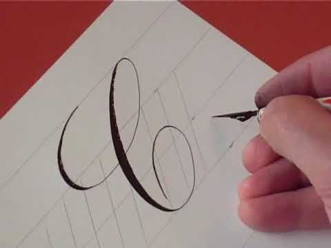 writing letters how to write copperplate the letters c and c 25846 | hqdefault