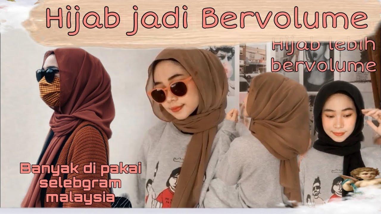 Tutorial Hijab Pashmina Terbaru 2020 Hijab Bervolume Fitri Hasiani Youtube