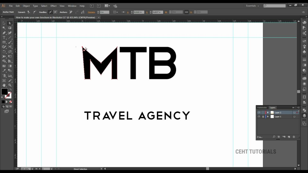 How to design a trifold brochure in Photoshop Class #19 By