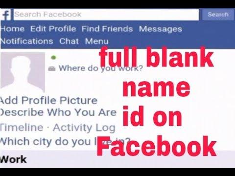 Full blank name id on fb