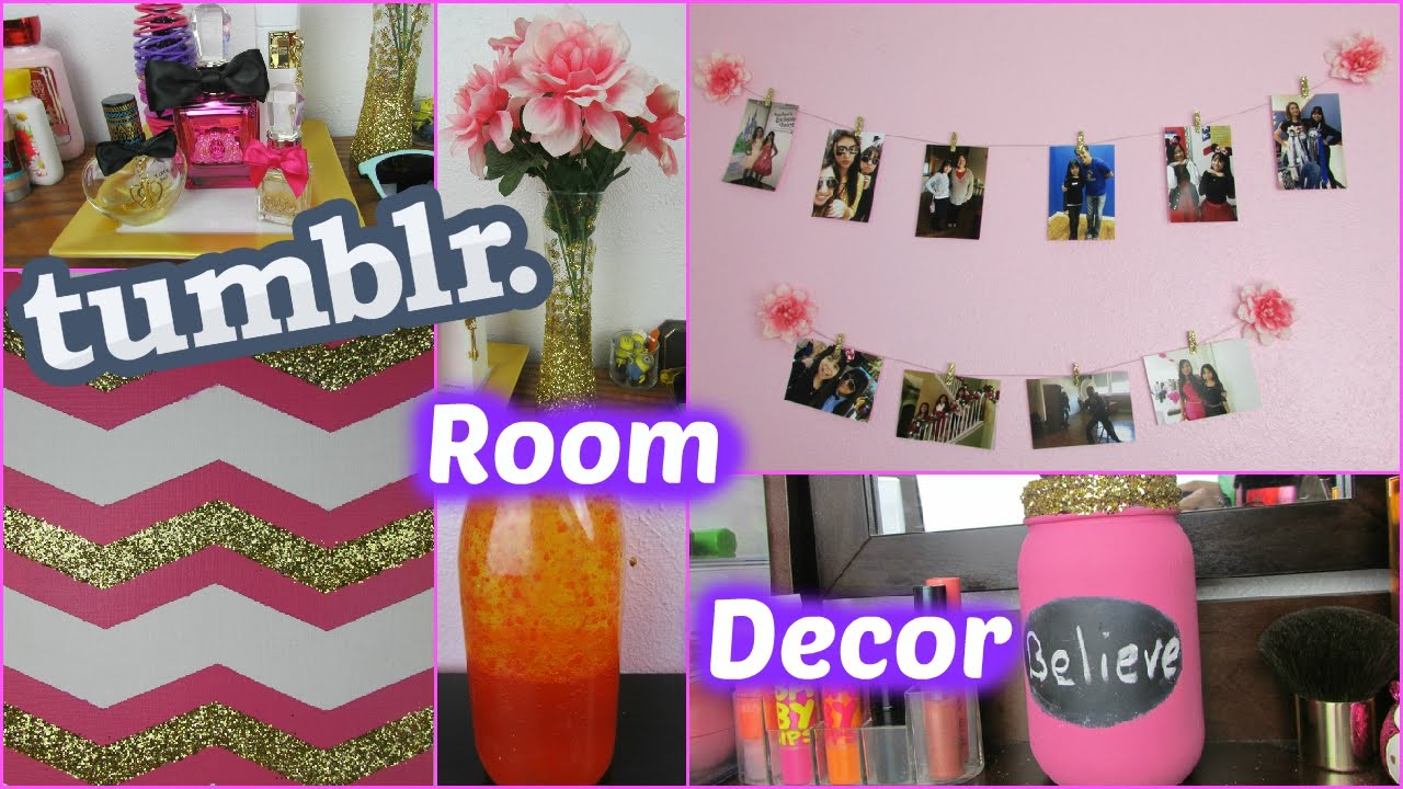Diy tumblr room decor cute cheap youtube for Cute cheap home decor