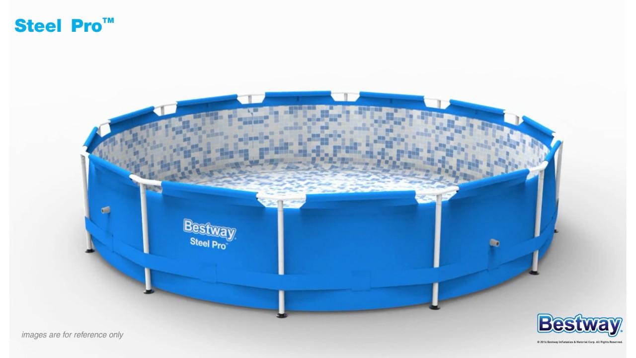 Bestway Pool Steel Pro Pool 366 X 76 Cm Youtube