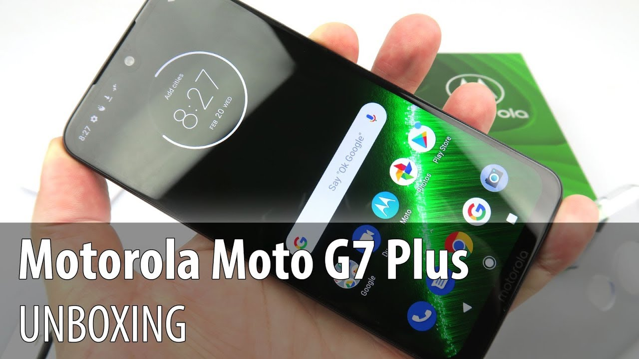 Motorola Moto G7 Plus Unboxing and Short Review (Midrange With Android 9.0 Pie, 4K Selfie Video)
