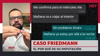 Caso Friedmann: El por qué de la imputación
