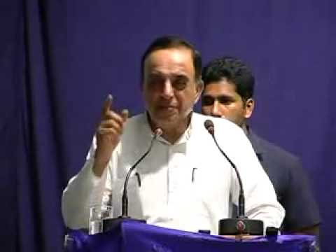 """Dr Subramanian Swamy powerful speech on """"India in Crisis - How do we save our Nation"""" at Hyderabad"""