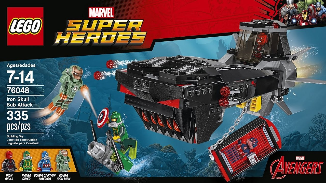 LEGO 76048 Iron Skull Sub Attack Super Heroes (Instruction ...