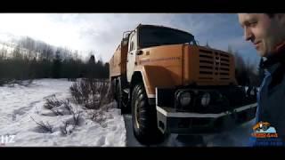 Заезд по снежной целине Зил-497200 и Урал-4320