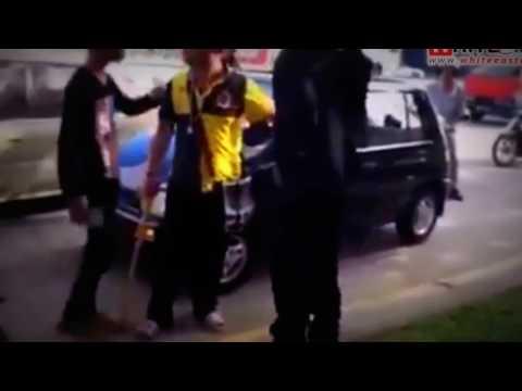 CarPedestrian Accident amp Random Road Rage Kepong  Malaysia Crime Focus 360 Russian car crash