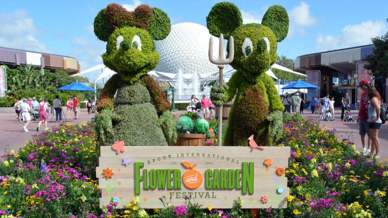 Epcot Flower Garden Festival 2015 Future World Highlights W Frozen Pixar Inside Out Garden