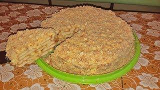 Рецепт ленивый торт Наполеон из печенья