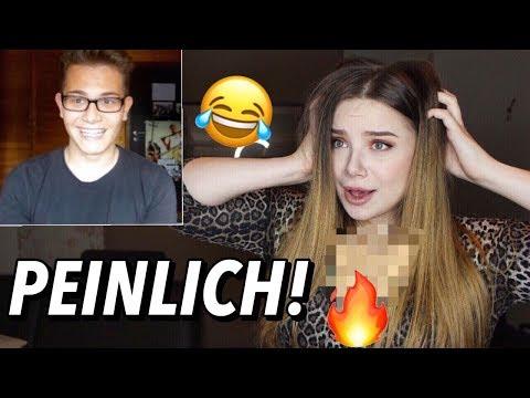 MEINE FREUNDIN REAGIERT auf MEIN ERSTES YOUTUBE VIDEO!