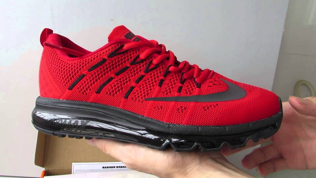 Nike Air Max 2016 Red And Black