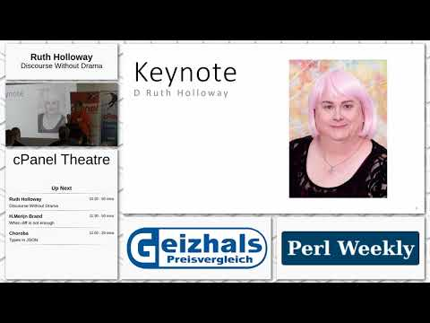 The Perl Conference in Glasgow - Day 1 - cPanel Theatre