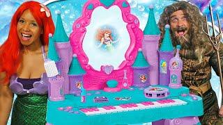 Ariel & Aquaman Disney Princess Keyboard & Vanity Set !    Disney Toy Review    Konas2002