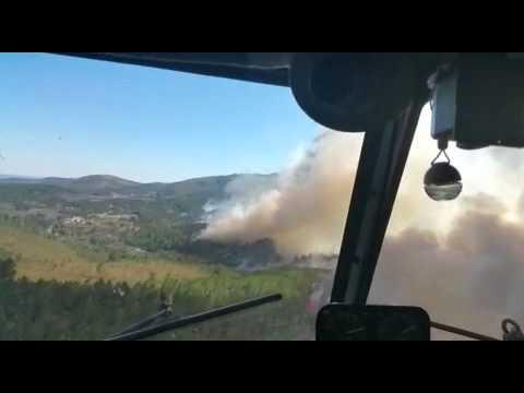 Incendio forestal en Acebo el dia 6 de agosto de 2015