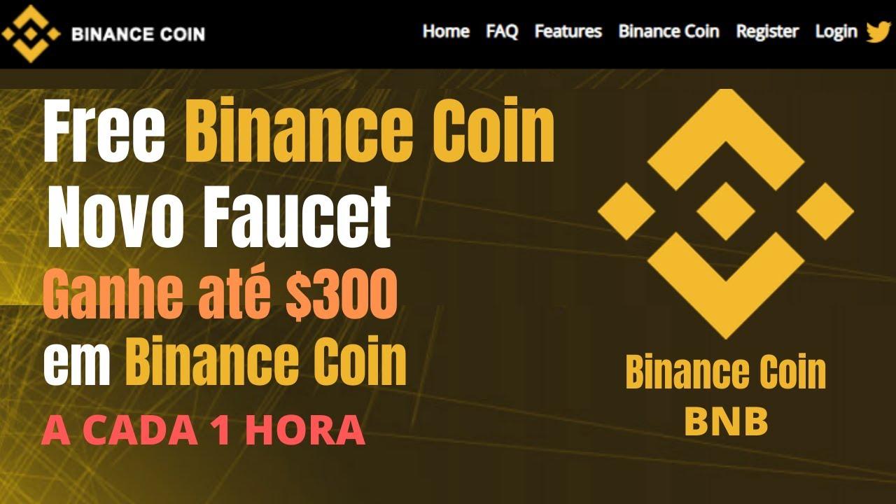 FreeBinanceCoin Novo Faucet Ganhe até $300 em Binance Coin (BNB) a cada 1 Hora