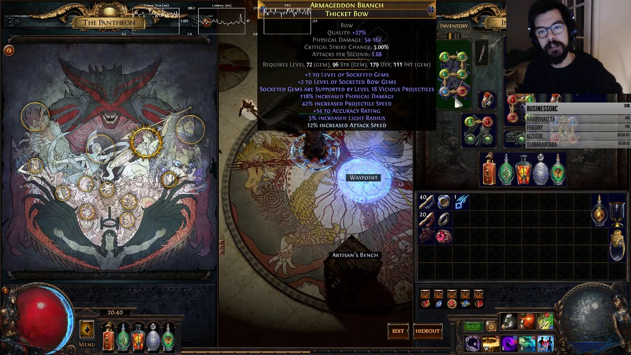 How to craft +3 Vicious Projectiles Bow by nugiyen