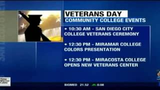 XETV-SD: San Diego Community College Districts celebrates Veterans Day throughout the county.