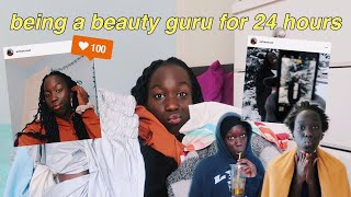 BEING A BEAUTY GURU FOR 24 HOURS (ft. african mall)