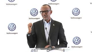 President Kagame speaks at the Launch of Volkswagen Mobility Solutions | Kigali, 27 June 2018