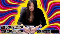 Maria Ho in Tough Spots in High Stakes Poker Game ♠ Live at the Bike!