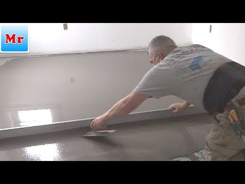 How to Make a Floor Leveling with Concrete Self Leveling Compound MrYoucandoityourself