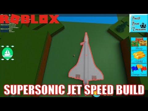 Building Supersonic Jet (Concorde) in Build a Boat for Treasure   Roblox