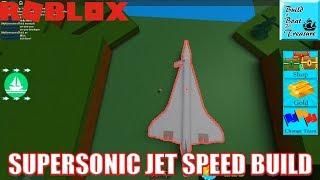 Building Supersonic Jet (Concorde) in Build a Boat for Treasure | Roblox