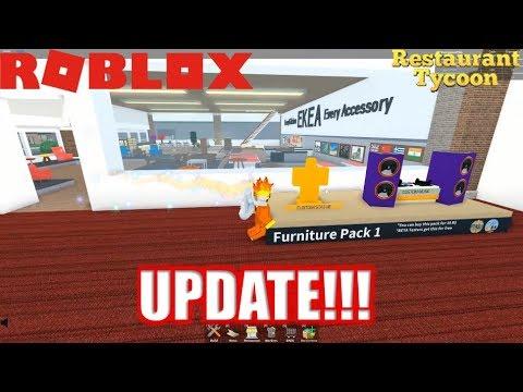 Roblox: Restaurant Tycoon: Update! | NEW ITEMS