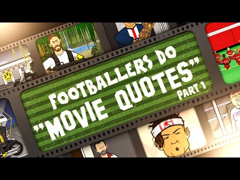 🍿FOOTBALLERS DO  MOVIE QUOTES!🍿