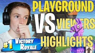 Fortnite Playground 1v1s against VIEWERS Highlights! thumbnail